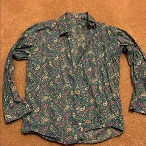 Pasley print button down shirt. Great condition